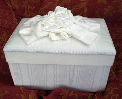 White Moire Box with White trimmings