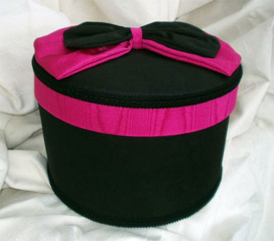 Moire Black and Magenta fabric