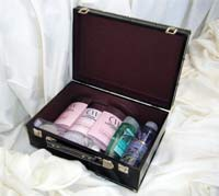 Inside larger size suitcase