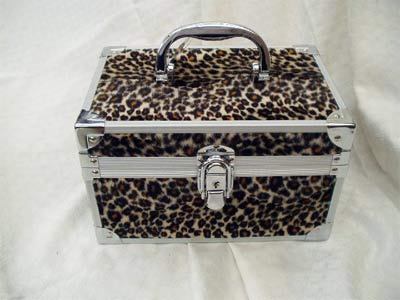 Leopard skin effect jewellery case